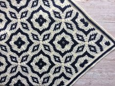 Ravelry: Midnight Diamond Blanket pattern by Catherine Noronha This is a crochet pattern for a blanket made using tapestry crochet. Crochet Afghans, Tapestry Crochet Patterns, Crochet Motifs, Crochet Squares, Blanket Crochet, Crochet Quilt Pattern, Knit Blankets, Modern Crochet, Crochet Home
