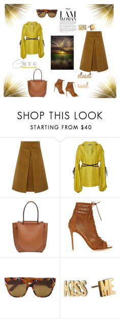 """""""I'm a woman"""" by zabead ❤ liked on Polyvore featuring Tory Burch, Hellessy, Tod's, Gianvito Rossi, Gucci and Kate Spade"""