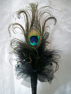 Peacock Feather Fairy Wand by IndigoDaisyWeddings