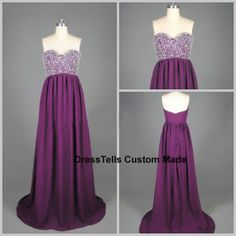 Long  Prom Dress /  Purple Prom Dress