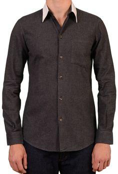 323679813e HELMUT LANG Solid Gray Cotton Casual Shirt US 15.75 Size EU 40 Retail  Price