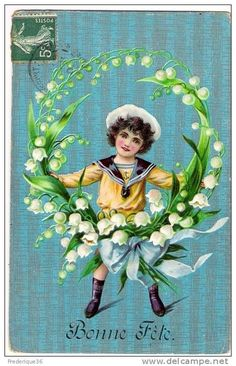 New Year Postcard, Birthday Postcards, Language Of Flowers, April Fools Day, Lily Of The Valley, Wedding Paper, Vintage Flowers, Vintage Postcards, Fine Art