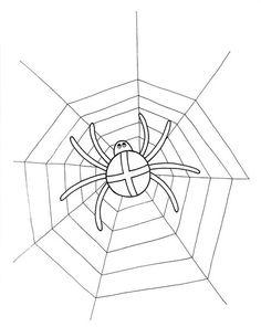 pavouk Coloring, Halloween