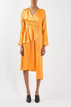 Satin Peplum Tea Dress by Boutique - Dresses - Clothing - Topshop USA