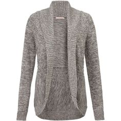 John Lewis Multi Yarn Cable Stitch Cardigan, Neutral (£39) ❤ liked on Polyvore featuring tops, cardigans, outerwear, sweaters, jackets, long sleeve open front cardigan, long sleeve cardigan, long sleeve layering tops, long sleeve tops and chunky cable knit cardigan