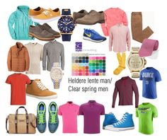 """Heldere lente man. Clear spring men."" by roorda on Polyvore featuring mode, Timberland, Salvatore Ferragamo, Converse, Vineyard Vines, Armani Exchange, NIKE, Banana Republic, Under Armour en Ralph Lauren"