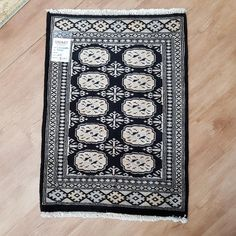 Pakistan Princes Bokhara design rug is hand-knotted, with fine wool Size : cm Rugs In Living Room, Home Decor Bedding, Rugs, Black Rug, Rugs Online, Bedroom Rug, Rugs On Carpet, Handmade Rugs, Door Mat