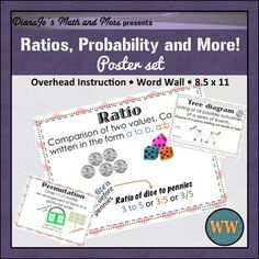 Word Wall Ratios, Probability, and More POSTER Set