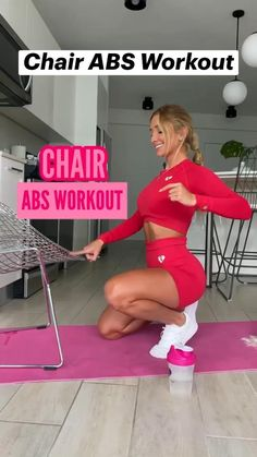 Gym Workout For Beginners, Fitness Workout For Women, Fitness Goals, Workout Videos, Fitness Tips, Fitness Motivation, Workouts, Body Weight Leg Workout, Slim Waist Workout