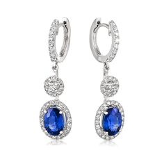 Hardy Brothers, 18ct White Gold Oval Ceylon Sapphire Earring $6,680.00 Crafted in 18 carat white gold, these elegant Ceylon Sapphire and Diamond drop earrings are magical and enchanting. Surprise the one you love today. Material 18ct White Gold Setting Claw Set Major gemstone Ceylon Sapphire Minor gemstone Diamond Total Gem Weight 2.5622 carat