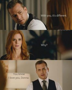 You know I love you Donna Donna Suits Quotes, Suits Quotes Harvey, Harvey Specter Quotes, Serie Suits, Suits Tv Series, Suits Tv Shows, Harvey And Donna Kiss, Suits Harvey And Donna, Donna Paulsen