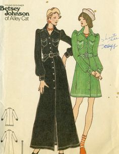 Vintage 70s Butterick 3284 Junior Petite Front Button Maxi Dress with Military Accents Sewing Pattern by Betsey Johnson SIZE 5 Bust 31 by RomasMaison on Etsy https://www.etsy.com/listing/292876435/vintage-70s-butterick-3284-junior-petite