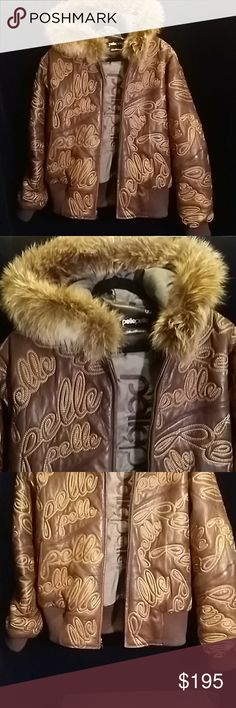 Pelle Pelle Women's Fur Hood Leather Jacket Pelle Pelle Women's Fur Hood Leather Jacket Size: 20 Color: Brown Fabric: Leather with Fox Fur Hood Lined:Yes Arm pit to pit approximately: Shoulder to hem approximately: Condition: Excellent Used Condition, signs of wear, very small peel ( pic 7), light beading on inside trim edge (pic 4), typical leather discoloration (price codes may be on neckline or tag). Sorry No holds/No trades/No modeling/ No transaction outside Poshmark/ No Personal Email…