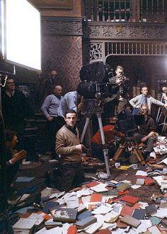 François Truffaut at work on Fahrenheit 451 (1966).