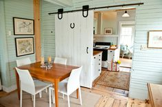 Cheap Barn Door Hardware Dining Room Traditional with Area Rug Barn Door Hardware Beadboard Doorway Framed Art