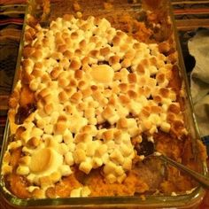 My Favorite Thanksgiving dish! Sweet Potatoes & Marshmallows!! #offcampuseats