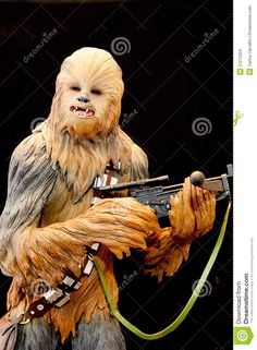 Photo about Chewbacca - fictional character in the Star Wars. Image of chewbacca, fighter, millennium - 57275204 Star Wars Day, Chewbacca, Stars, Movie Posters, Movies, Animals, Fictional Characters, Image, Animais