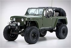 This awesome conversion was built by RCH Designs in Huntington Beach, CA. Based on a Jeepster Commando, the spectacular Jeep Terra Crawler has been fitted with all the gear needed to tackle the world´s toughest and most adventurous environments, clim Jeep Cars, Jeep Truck, Jeepster Commando, Customised Trucks, Jeep Tj, Jeep Willys, Jeep Cherokee, Jeep Life, Sedans