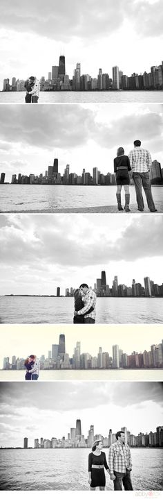 Chicago Engagement Photos- would be cool to go back to the place We fell in love to do engagement photos...