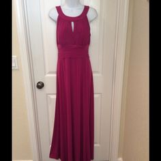 NWT SANGRIA PLEATED EMPIRE WAIST MAXI DRESS Gorgeous Dress New With Tags. SZ 16 Sangria Dresses Maxi