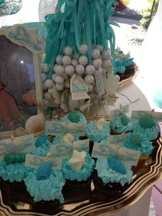 Vintage mermaid Birthday Party Ideas | Photo 1 of 17 | Catch My Party. Pearl necklaces?
