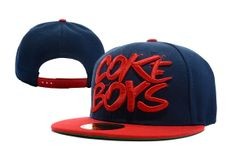 Coke Boys Snapback Hat Navy Red , for sale online  $5.9 - www.hatsmalls.com