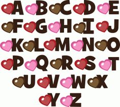 Silhouette Design Store - View Design #54725: uppercase valentine monograms