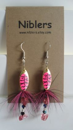Fun earrings made out of Fishing Lures...perfect for gifts! bahaha LOVE then when I'm fishing if I lose a lure, I can just grab one out my ear!! REDNECK WHAT??!!
