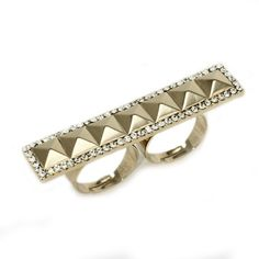 The Golden Valentina  http://www.inspiredsilver.com/ #cocktailring #ring  #jewelry