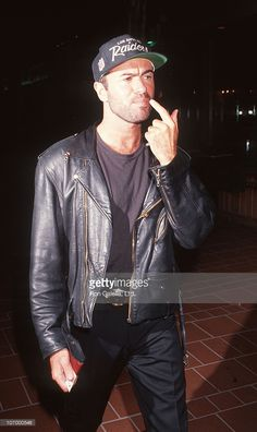 George Michael during \'The Indian Runner\' Los Angeles Premiere at AMC Theater in Century City, California, United States.