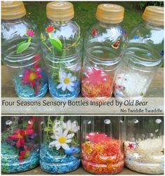 Four Season Sensory Bottles to go with Kevin Henkes' book Old Bear by No Twiddle Twaddle