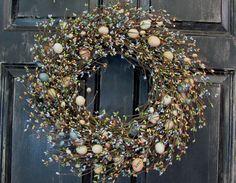 Spring Easter Egg Wreath  Egg & Pip Berry Wreath  by Designawreath, $66.95