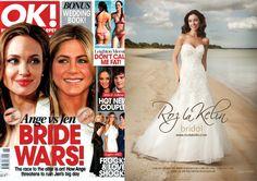 "Ok Magazine Featuring Roz la Kelin bridal gown ""Lazuli""."