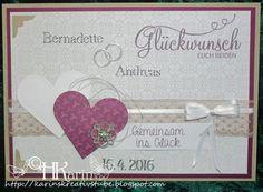 "Karins Kreativstube: Hochzeit ""Bernadette & Andreas"" savanne/violett Andreas, Blog, Place Cards, Place Card Holders, Wedding Favors, Creative, Blogging"