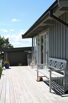 Grey Exterior, Weekend House, Deck, Cottage, Cabin, Studio, Architecture, Taylor Hill, Outdoor Decor