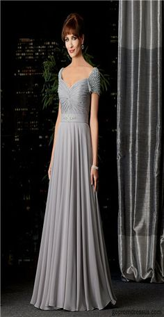 Mother of the bride dress. Another beautiful floor length gown. Definitely in a different color though.