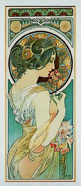 Lilies by Mucha by mpt.1607, via Flickr