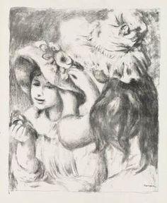 Pierre-Auguste Renoir, 'Le Chapeau Épinglé, 2e planche./ Pinning the Hat: Second Plate,' 1898, Pia Gallo