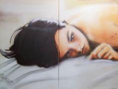Last Night Spray on Canvas 200 x 150