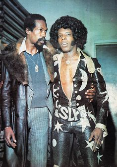 Eddie & Sly Stone, black retro, 70s style, vintage, black power