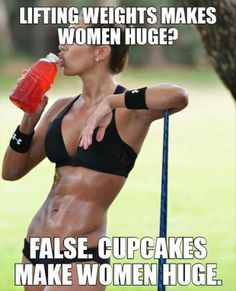 Lifting weights makes women huge?
