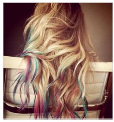 ::. colored ombre hair .::
