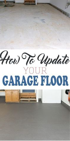 How to coat your garage floor or concrete for a clean look and big difference! Durable and easier than epoxy, Behr Premium Granite Grip is as easy to apply as rolling paint. AD @behrpaint