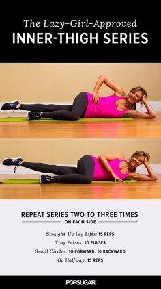 A workout you can do lying down — literally! Perfect for marathon Netflix sessions. Who's ready to tone those inner thighs?!