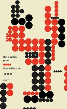 The number poem by Gilberto Ribeiro, via Behance