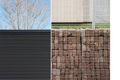 Jesuit Community Center | Gray Organschi Architecture / ...gabion baskets with brick looks good
