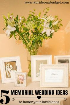 5 Memorial Wedding Ideas (to honor your loved ones) May Wedding Colors, Elegant Wedding Colors, Wedding Tips, Wedding Planning, Dream Wedding, Party Planning, Wedding Stuff, Wedding Invitation Trends, Wedding Hands