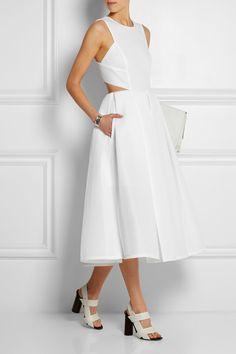 DKNY|Scuba-mesh midi dress|NET-A-PORTER.COM