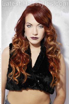 Crimson Ombre Haircolor
