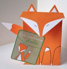 Souvenir cumple Infantil Caja Zorro